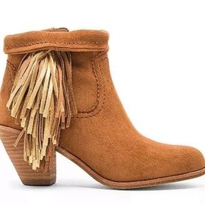 Sam Edelman Suede Louie Booties with Fringes